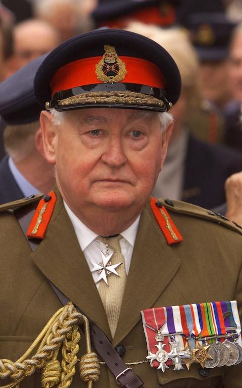 Lord Bramall was awarded £100,000 in compensation following the police raid on his home