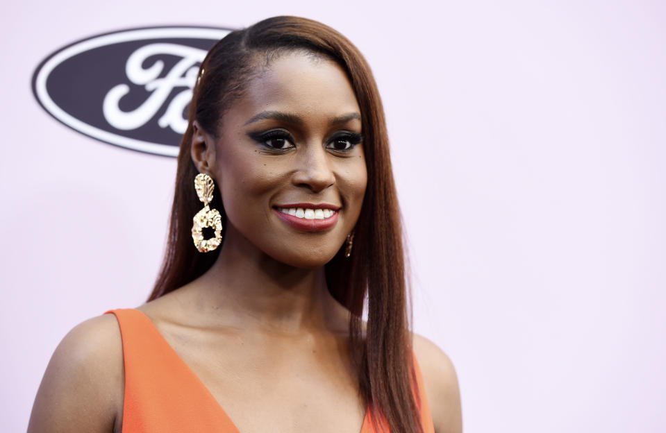 "FILE - This Feb. 6, 2020 file photo shows actress/writer/producer Issa Rae at the 13th Annual ESSENCE Black Women in Hollywood Awards Luncheon in Beverly Hills, Calif. Rae is looking to find up-and-coming fashion, film, music and visual art creatives from underrepresented communities. She's teaming up with LIFEWTR, PepsiCo's bottled water product line and its ""Life Unseen"" campaign. (AP Photo/Chris Pizzello, File)"