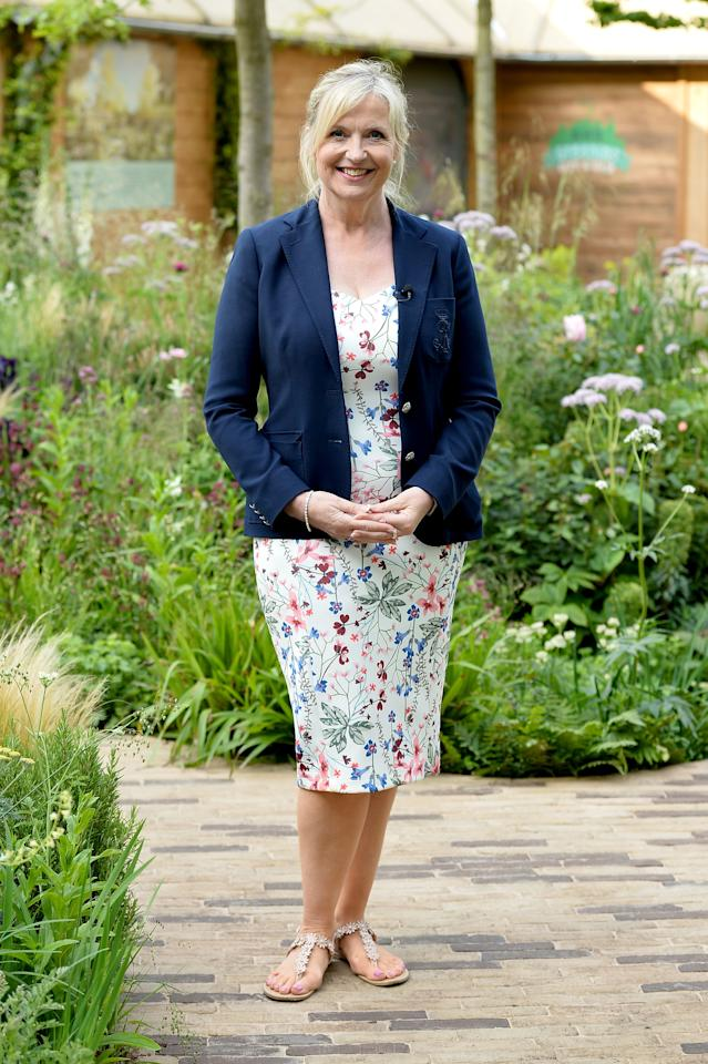 LONDON, ENGLAND - MAY 21:  Presenter Carol Kirkwood attends the Chelsea Flower Show 2018 on May 21, 2018 in London, England.  (Photo by Jeff Spicer/Getty Images)