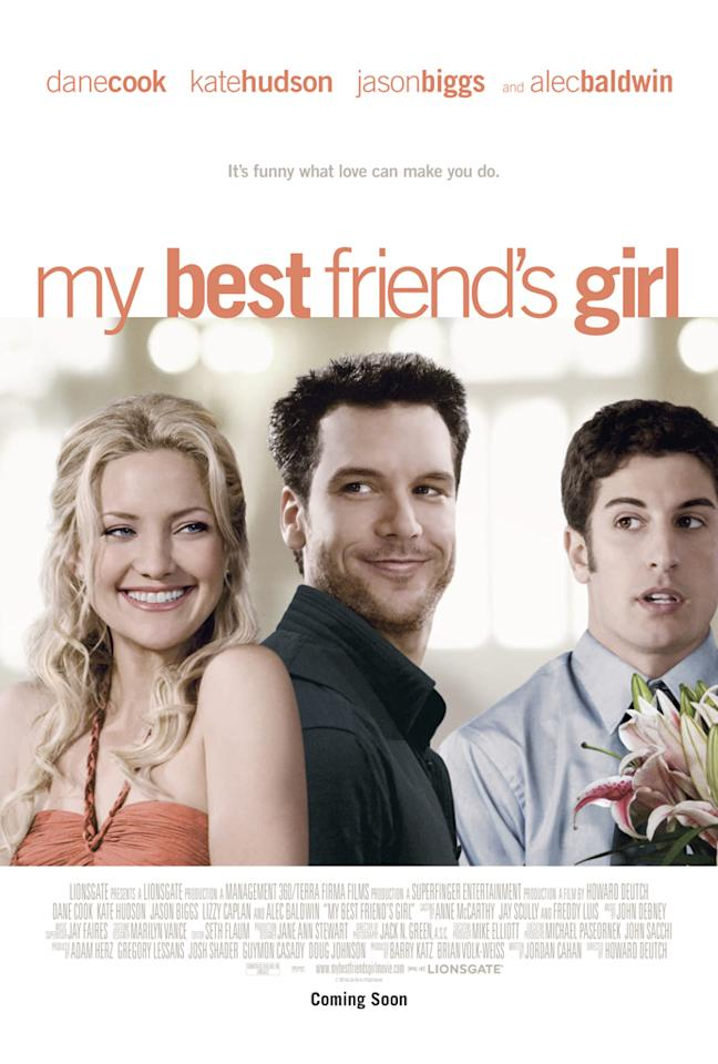 """<a href=""""http://movies.yahoo.com/movie/contributor/1800018574"""">Kate Hudson</a>, <a href=""""http://movies.yahoo.com/movie/contributor/1800024557"""">Dane Cook</a> and <a href=""""http://movies.yahoo.com/movie/contributor/1800018640"""">Jason Biggs</a> in Lionsgate Films' <a href=""""http://movies.yahoo.com/movie/1809923613/info"""">My Best Friend's Girl</a> - 2008"""