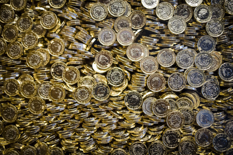 A glass display containing a million �1 coins display in the new Royal Mint Experience visitors centre, Llantrisant, Wales, which is open to the public to see how coins and medals are made. PRESS ASSOCIATION Photo. Picture date: Tuesday May, 17, 2016. Photo credit should read: Ben Birchall/PA Wire