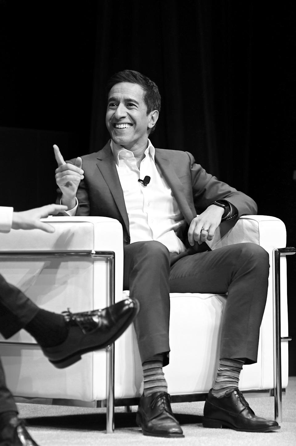 Dr. Sanjay Gupta, seen here onstage in March in New York City, has decided to keep his kids home from school during the pandemic. (Photo: Mike Coppola/Getty Images for WarnerMedia)