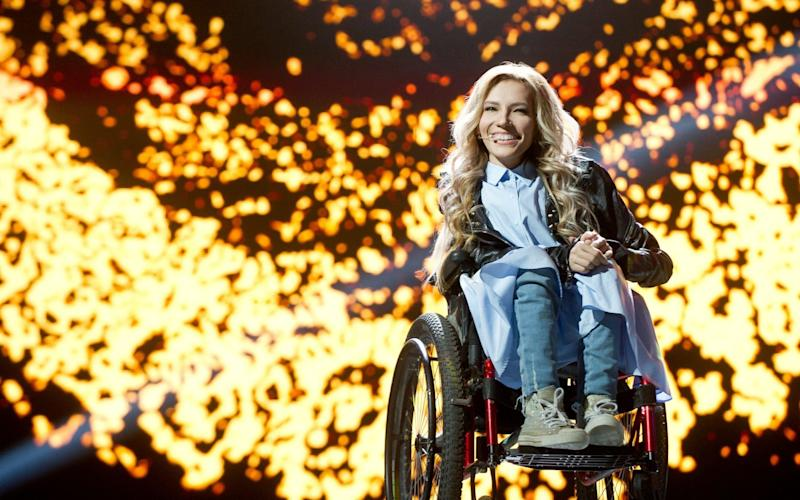 Russian singer, composer and songwriter Yulia Samoilova - Credit:  EPA/RUSSIAN TV CHANNEL 1 PRESS SERVICE