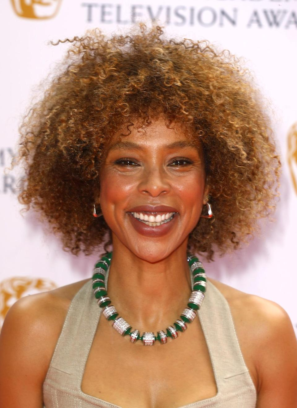 <p>From her caramel-tinged curls to her tawny-brown lip color, everything about Okonedo's beauty look for the evening radiated warmth and summery vibes.</p>