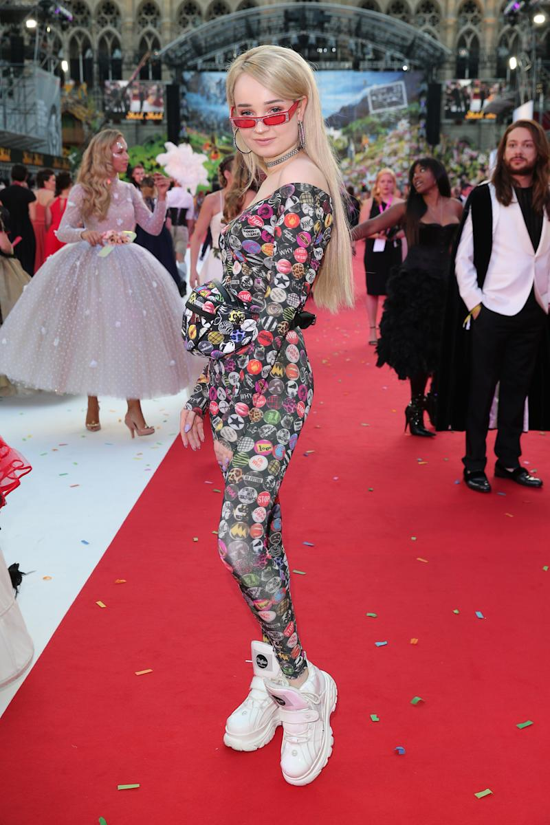 Singer Kim Petras during the Life Ball 2018 at City Hall on June 2, 2018 in Vienna, Austria. Photo courtesy of Getty Images.