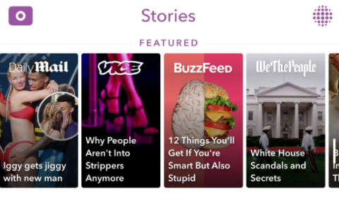 Snapchat Discover page