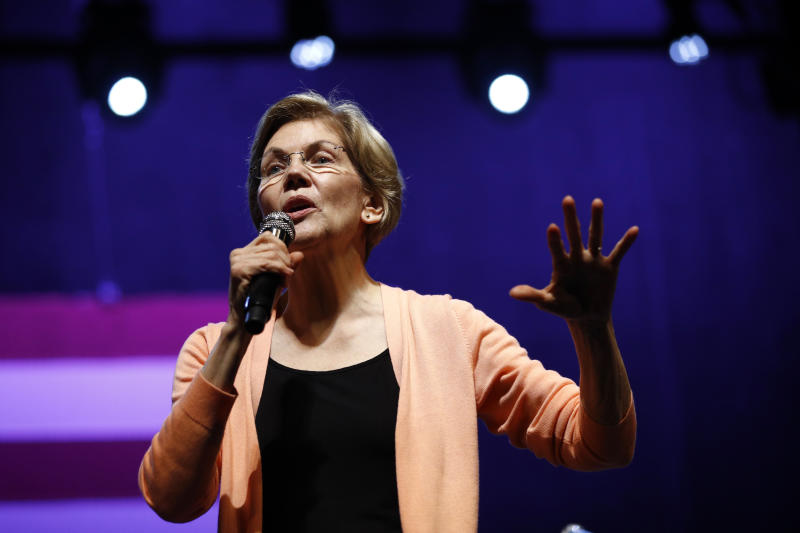 Democratic presidential candidate Sen. Elizabeth Warren, D-Mass., speaks at a campaign event in Charleston, S.C. (AP Photo/Patrick Semansky)