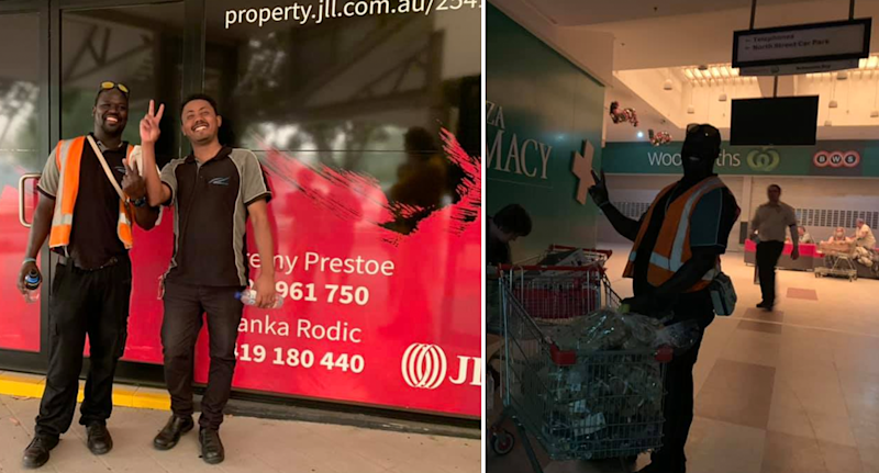 When Woolworths locked its doors, a Sudanese Coles employee came to the rescue with free supplies for fire victims. Source: Supplied