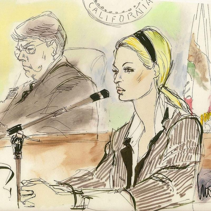After Paris Hilton showed up late to her 2007 Beverly Hills trial in an uncharacteristic pinstripe suit, but before she was convicted of violating her probation, the early 2000s icon actually pulled out her compact and started doing her makeup in court—a moment Edwards benevolently chose not to depict.