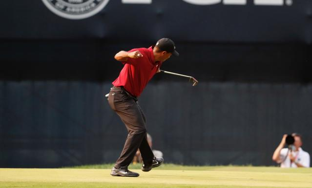 "<a class=""link rapid-noclick-resp"" href=""/pga/players/147/"" data-ylk=""slk:Tiger Woods"">Tiger Woods</a> opened up about how he was ready to give up on golf in 2017, making his comeback story that much more remarkable. (AP)"