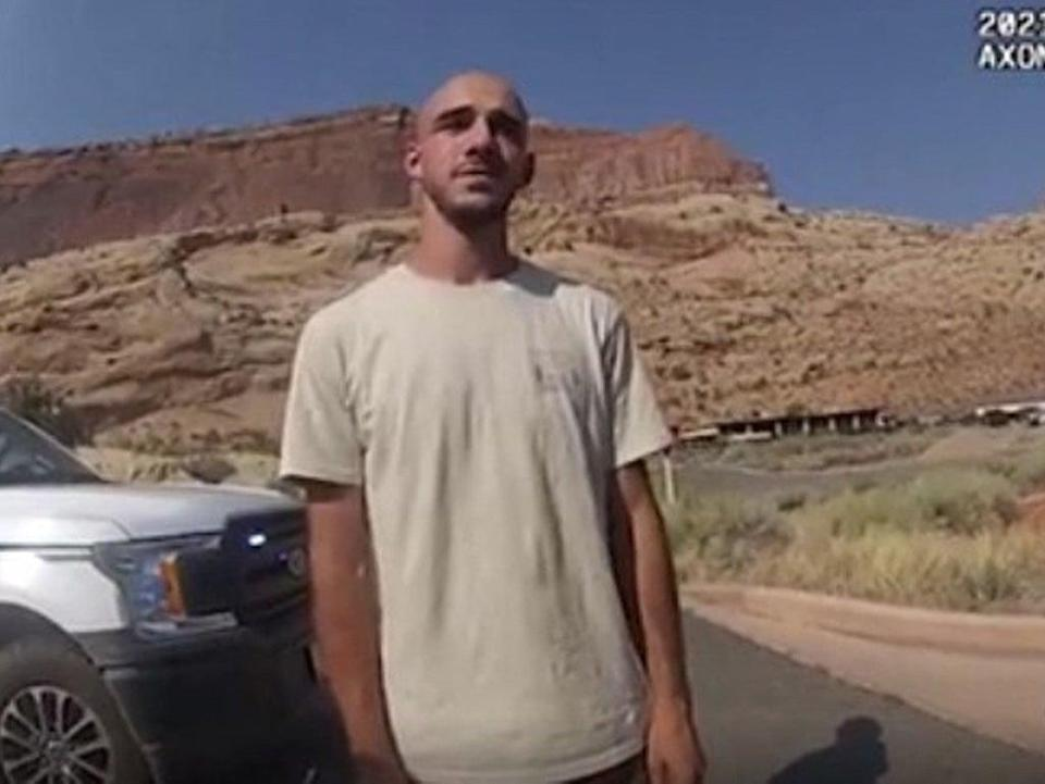 Brian Laundrie during a police stop in Utah in August  (Moab City Police Department/AFP)