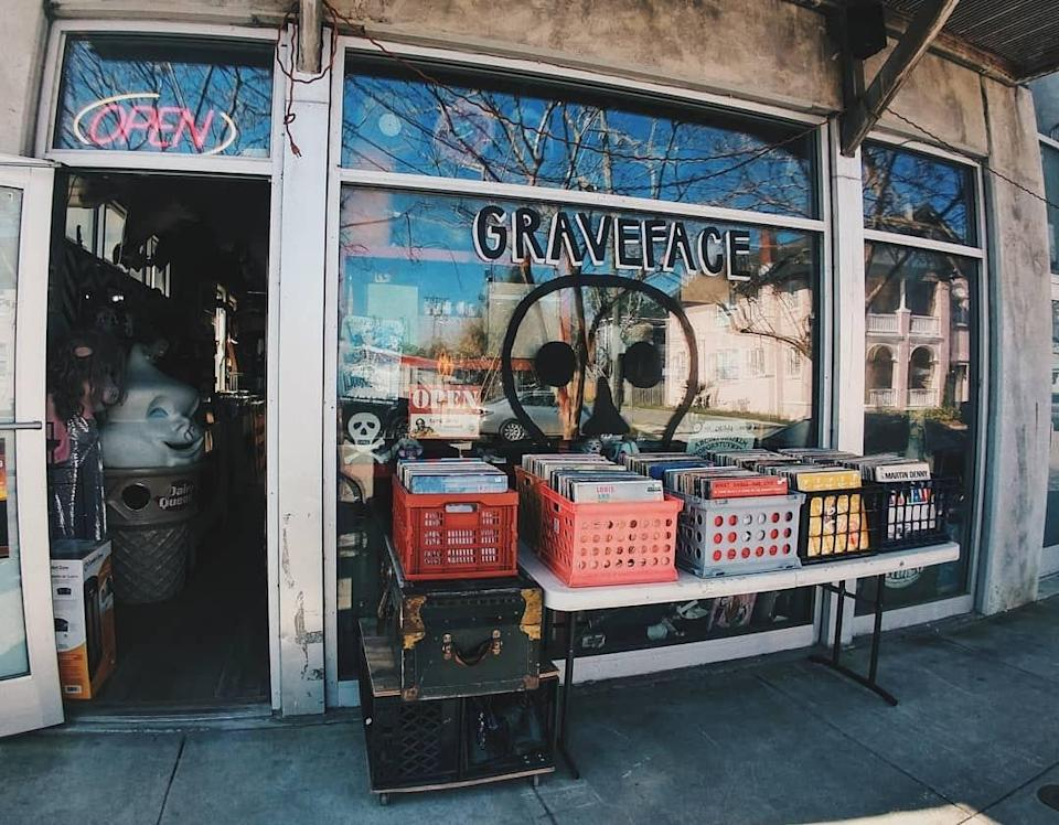 """<p><strong>Give us an overview of this shop.</strong> There are a lot of new <a href=""""https://www.cntraveler.com/gallery/best-shops-in-savannah?mbid=synd_yahoo_rss"""" rel=""""nofollow noopener"""" target=""""_blank"""" data-ylk=""""slk:businesses"""" class=""""link rapid-noclick-resp"""">businesses</a> in the Starland District, a stretch of Bull Street south of <a href=""""https://www.cntraveler.com/activities/savannah/forsyth-park?mbid=synd_yahoo_rss"""" rel=""""nofollow noopener"""" target=""""_blank"""" data-ylk=""""slk:Forsyth Park"""" class=""""link rapid-noclick-resp"""">Forsyth Park</a> that developers have been busily gentrifying in recent years. But one mainstay is Graveface Records & Curiosities, which owner Ryan Graveface opened in 2012. An outgrowth of the eponymous record label that Graveface started in the Midwest in 2000, the Starland store is a kind of cultural touchstone for another slice of life in <a href=""""https://www.cntraveler.com/destinations/savannah?mbid=synd_yahoo_rss"""" rel=""""nofollow noopener"""" target=""""_blank"""" data-ylk=""""slk:Savannah"""" class=""""link rapid-noclick-resp"""">Savannah</a>—a younger counterculture that finds the tourist-clogged historic district less appealing. The space is long and pleasingly cluttered with crates of records and assorted curios; the taxidermied heads of a couple big ungulates hang high on the wall.</p> <p><strong>What can we find here, or what should we look for?</strong> There's records, obviously—vinyl representing all genres, from classic country to punk to blues, from Hüsker Dü to Lightnin' Hopkins to Sleater-Kinney, as well as boxes and boxes of used records. But then there's treasure trove of, well, everything else, including the aforementioned taxidermy (smaller pieces are available if you don't want to take home a whole moose head), cocktail bitters, socks that say """"HELL IS OTHER PEOPLE,"""" a vintage Ronald McDonald doll, and a number of volumes from Time-Life's """"Mysteries of the Unknown"""" series, published in the late 1980s and early 1990s. There are also cassettes, CDs"""