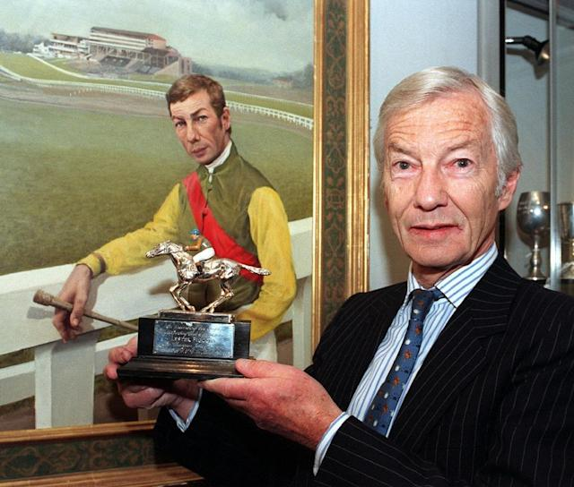 Lester Piggott widely regarded as the greatest flat jockey of all time is in hospital though the 83-year-old's daughter says it is precautionary (AFP Photo/FIONA HANSON)