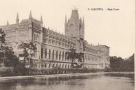 Calcutta - High Court', circa 1900. Calcutta High Court is the oldest High Court in India. It was established as the High Court of Judicature at Fort Williamon 1st July 1862 under the High Courts Act, 1861. [Art Union, Calcutta, circa 1900]. Artist: Unknown. (Photo by The Print Collector/Getty Images)