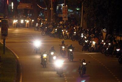 These mat rempits will be out with political flags stuck at the back of their motorcycles. — Bernama pic