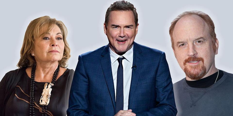 Roseanne Barr, Norm Macdonald, and Louis C.K. (Photos: Getty Images)