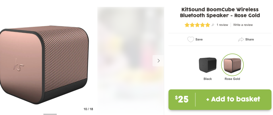KitSound BoomCube wireless speakers. Source: Target