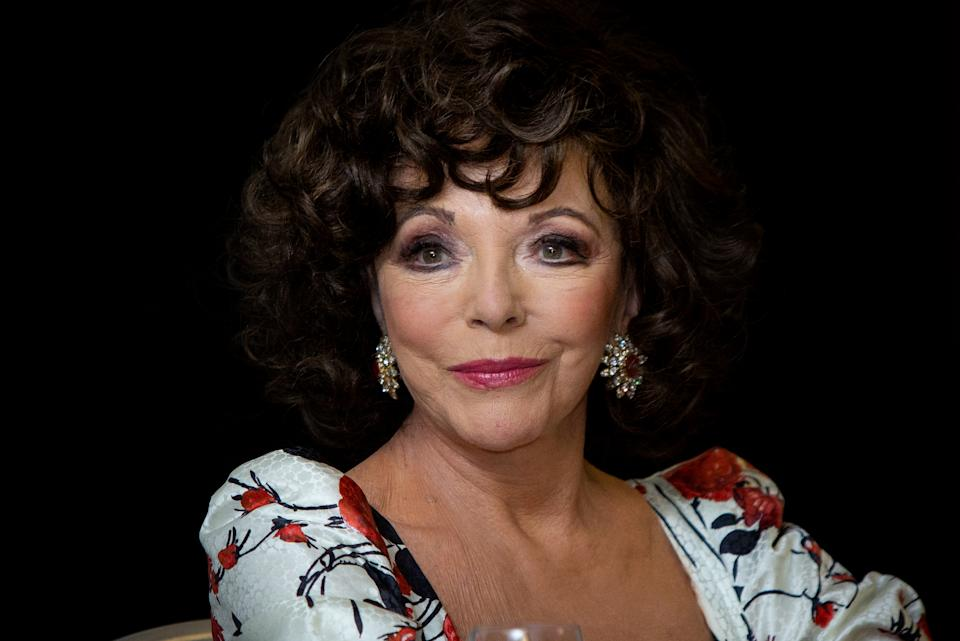 Joan Collins has received the AstraZeneca vaccine for COVID-19. (Photo: Pablo Cuadra/WireImage)