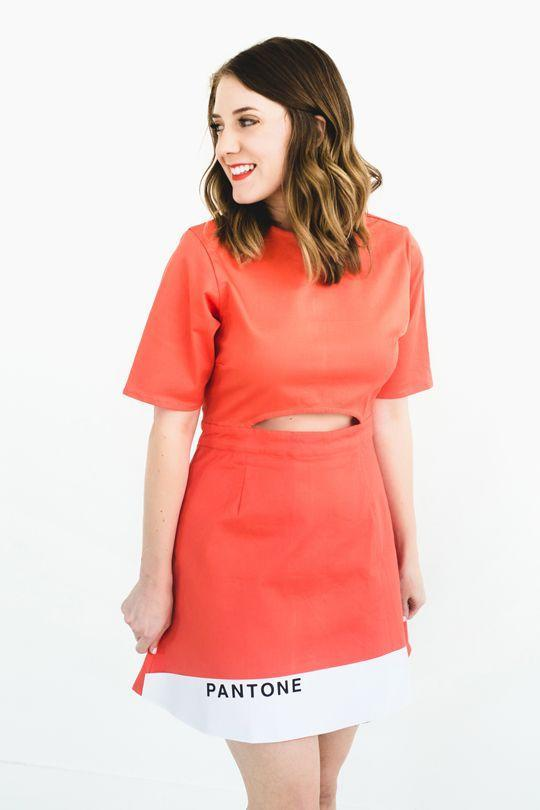 """<p>Hate dressing up? Here's a little cheat: Pick your favorite solid shade, then just pin on a little Pantone label. Boom—instant costume. </p><p><a class=""""link rapid-noclick-resp"""" href=""""https://sugarandcloth.com/hipster-halloween-diy-pantone-color-combo-couples-costume/"""" rel=""""nofollow noopener"""" target=""""_blank"""" data-ylk=""""slk:GET THE TUTORIAL"""">GET THE TUTORIAL</a></p><p><a class=""""link rapid-noclick-resp"""" href=""""https://www.amazon.com/Nonwoven-Patchwork-Costumes-Classrooms-Parties/dp/B0848X2RFN?tag=syn-yahoo-20&ascsubtag=%5Bartid%7C10072.g.33547559%5Bsrc%7Cyahoo-us"""" rel=""""nofollow noopener"""" target=""""_blank"""" data-ylk=""""slk:SHOP FELT"""">SHOP FELT</a></p>"""