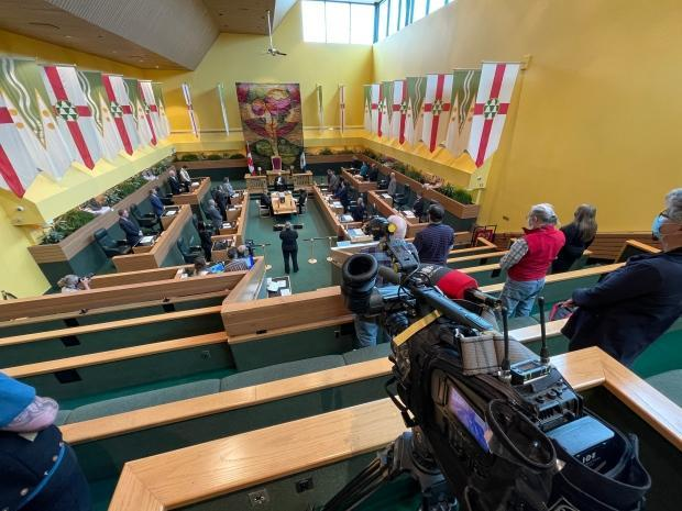 Yukon's Legislative Assembly on May 11. The Liberal government's confidence and supply agreement with the NDP featured prominently during the spring sitting. (Wayne Vallevand/ CBC - image credit)
