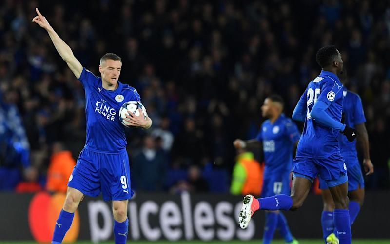 Vardy celebrates - Credit: AFP