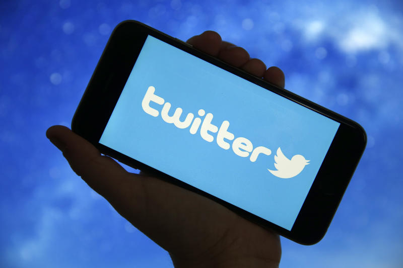 PARIS, FRANCE - DECEMBER 26: In this photo illustration, the microblogging social network Twitter logo is displayed on the screen of a smartphone on December 26, 2019 in Paris, France. A cybersecurity specialist has successfully downloaded lists of phone numbers using the contact upload feature on Twitter. No less than 2 billion telephone numbers have been recovered. The hacker then linked the numbers to user accounts, ultimately obtaining 17 million matches. For two months, his efforts allowed him to obtain information on people in Israel, Turkey, Iran, Greece, Armenia, France and Germany. (Photo by Chesnot/Getty Images)