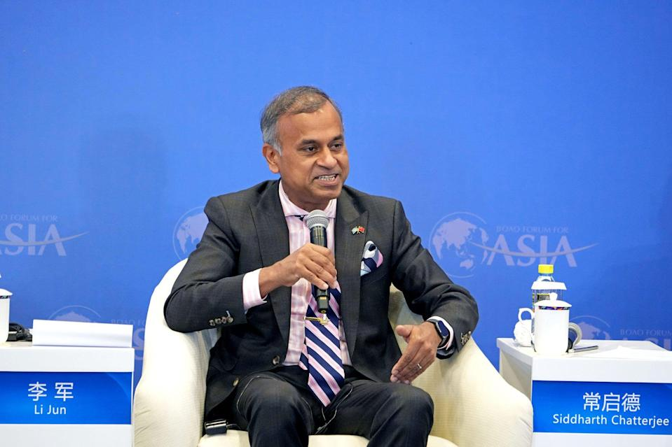 Siddharth Chatterjee, the UN envoy to China, speaking at the Boao Forum for Asia on April 19. Photo: Xinhua
