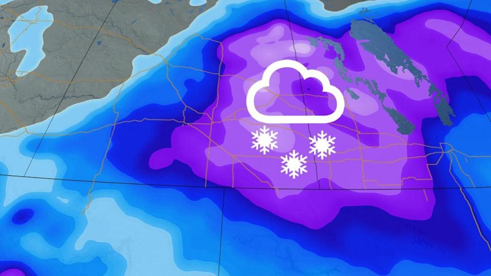 Storm threatens up to 30 cm of snow on the Prairies, temperatures plunge