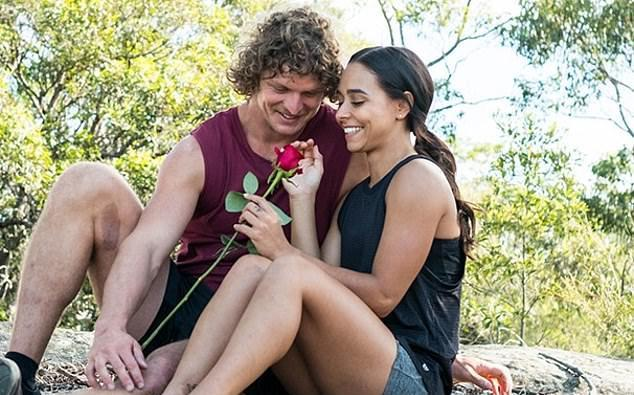 Brooke with Nick Cummins on 'The Bachelor' in 2018