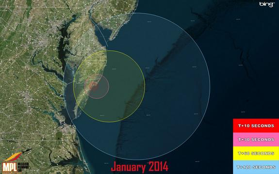 Launch of 3 Military Rockets Tonight Visible Along US East Coast