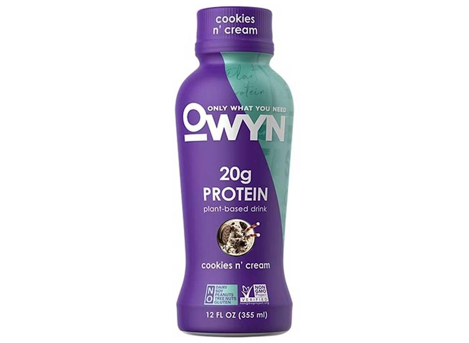 PWYN plant based protein drink cookies and cream