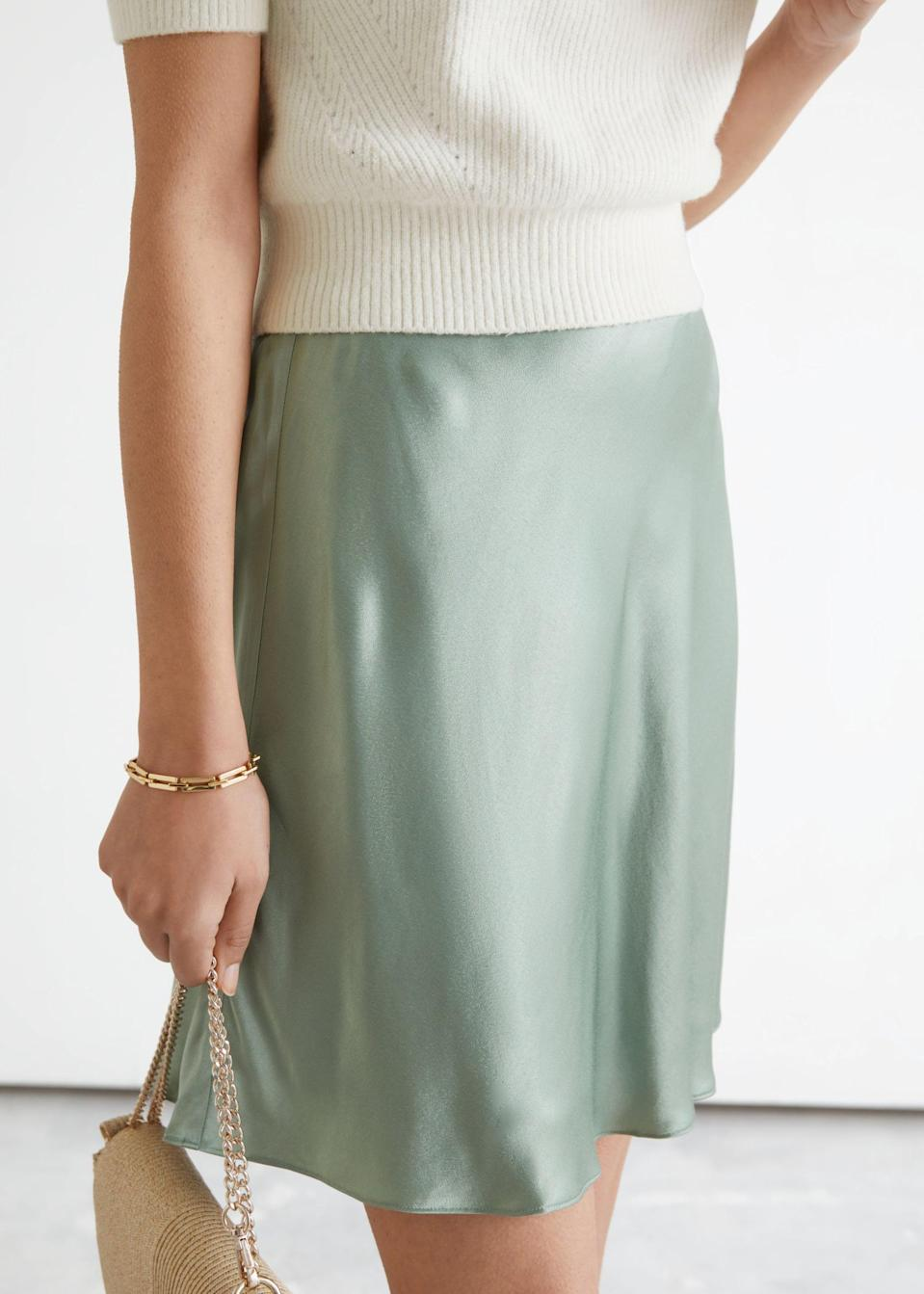 <p><span>&amp; Other Stories Satin Mini Skirt</span> ($40, originally $59 (plus 30% off with code SUMMER30))</p>