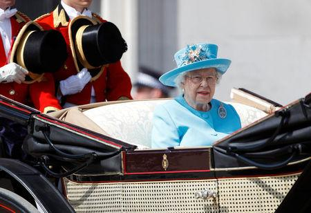 FILE PHOTO: Britain's Queen Elizabeth takes part in the Trooping the Colour parade in central London, Britain, June 9, 2018. REUTERS/Peter Nicholls