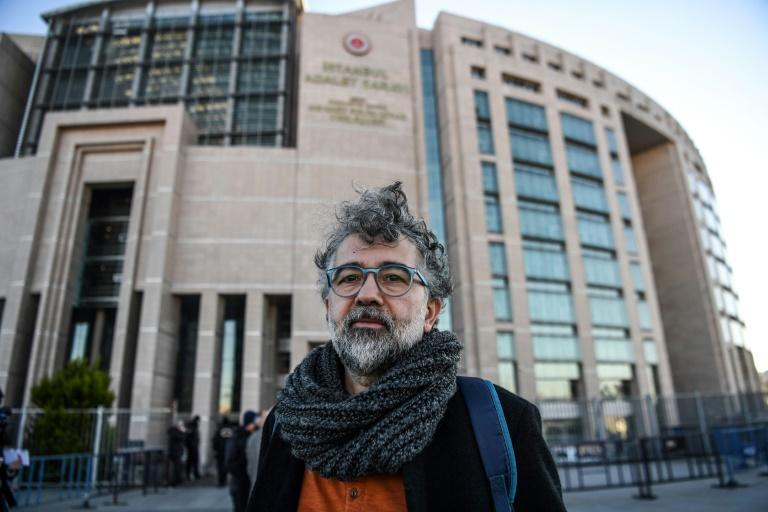 Reporters Without Borders representative for Turkey, Erol Onderoglu, was abroad for the verdict (AFP Photo/OZAN KOSE)
