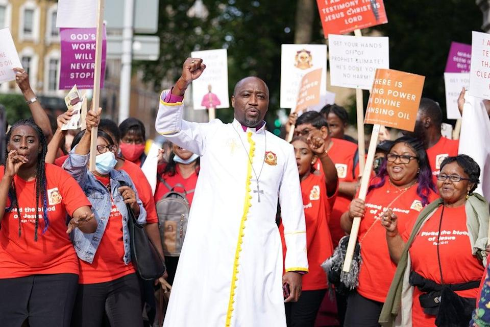 """Bishop Climate Wiseman has been charged with oil in connection to his """"divine healing oil"""