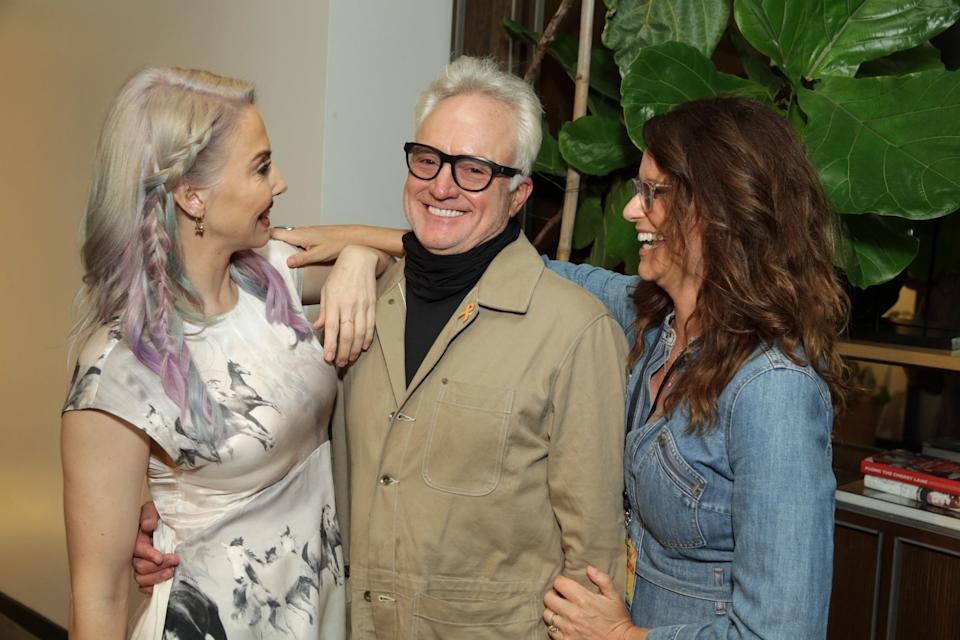 Whitney Cummings, Bradley Whitford and Amy Landecker at the Los Angeles Premiere of 'How It Ends.' - Credit: Steve Cohn