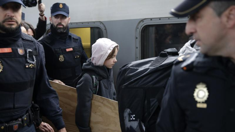 Greta Thunberg arrives in Madrid for climate change march