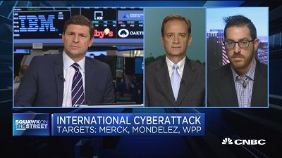 Phil Quade, Fortinent chief information security officer, and Adam Meyers, Crowdstrike VP of intelligence, discuss Tuesday's massive cyberattack that swept across Europe.