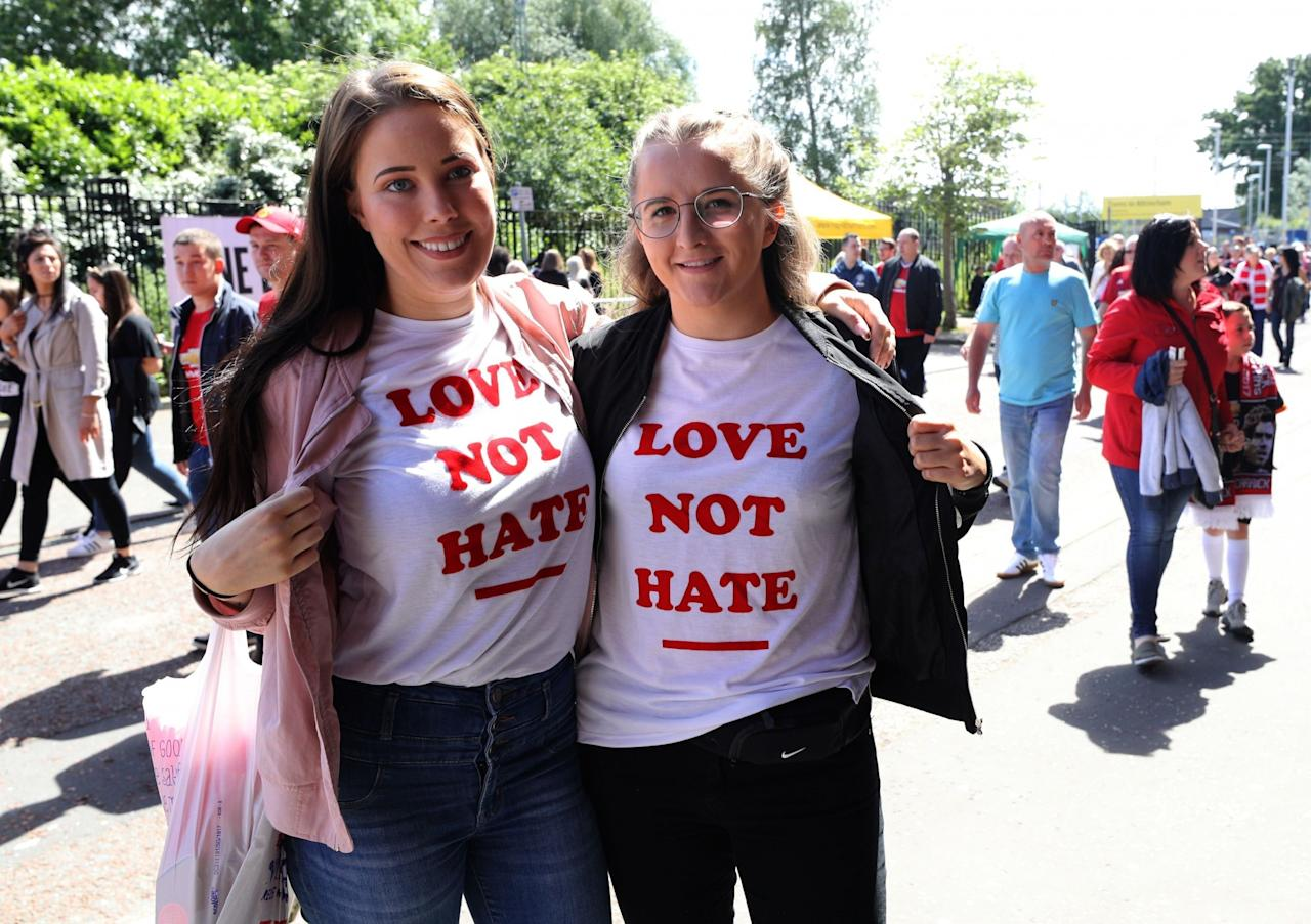 <p>Fans were determined to enjoy themselves at the poignant Manchester show. (PA) </p>
