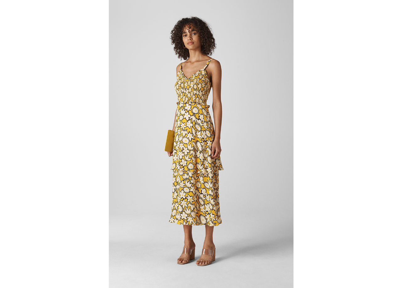"<p>Nyla floral print silk dress, £299, Whistles</p><p> <a class=""body-btn-link"" href=""https://www.whistles.com/women/clothing/dresses/nyla-floral-print-silk-dress-29863.html?dwvar_nyla-floral-print-silk-dress-29863_color=White%2FMulti&cgid=Dresses_Clothing_WW"" target=""_blank"">Buy now</a></p>"