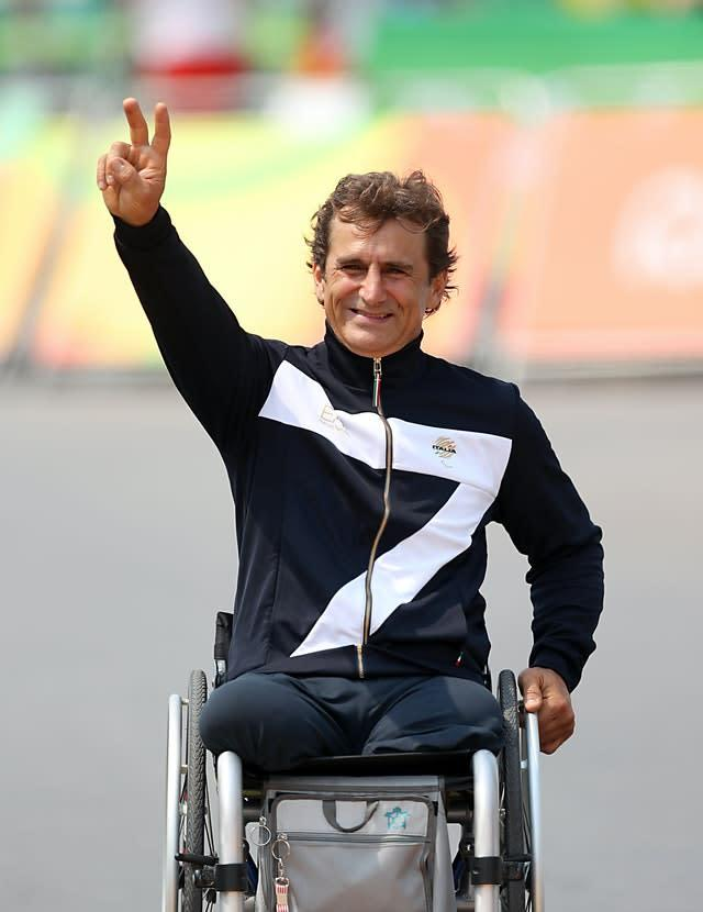 Alex Zanardi, pictured, is a four-time Paralympic gold medal winner and former Formula One driver (Andrew Matthews/PA)