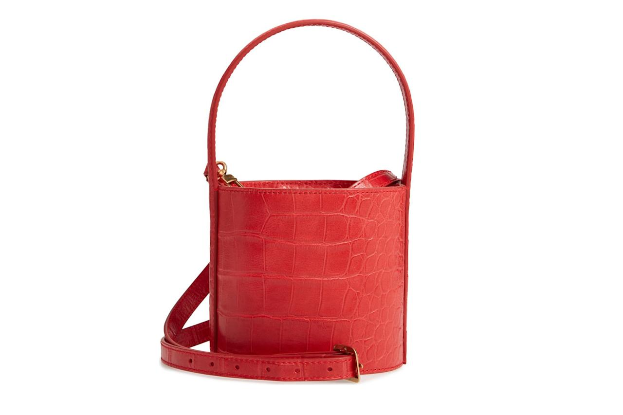"<strong>Buy It!</strong> STAUD Mini Bissett Croc Embossed Leather Bucket Bag, $194.98 (orig. $325); <a href=""https://click.linksynergy.com/deeplink?id=93xLBvPhAeE&mid=1237&murl=https%3A%2F%2Fshop.nordstrom.com%2Fs%2Fstaud-mini-bissett-croc-embossed-leather-bucket-bag%2F5213946&u1=PEO%2CShopping%3ANordstromHasTonsofGorgeousHandbagsonSale%E2%80%94IncludingKateSpade%2CToryBurch%2CCoach%2CandMore%21%2Ckamscram%2CUnc%2CGal%2C6182461%2C201909%2CI"" target=""_blank"" rel=""nofollow"">nordstrom.com</a>"