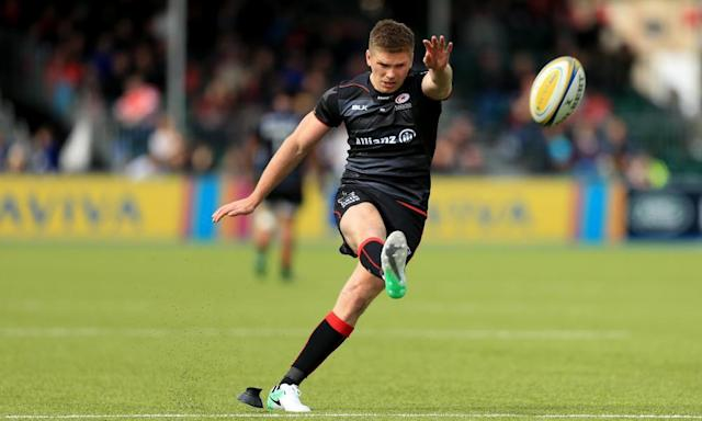 """<span class=""""element-image__caption"""">Owen Farrell's Saracens will not finish top if Exeter win at Gloucester on Saturday, but would they have lost at Gloucester and Worcester, matches played during the Six Nations, had they been at full strength?</span> <span class=""""element-image__credit"""">Photograph: Stephen Pond/Getty Images</span>"""