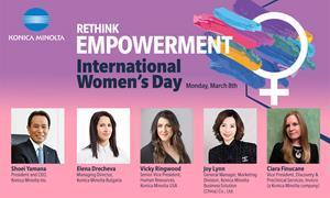 In celebration and support of International Women's Day (IWD), Konica Minolta hosted a global panel discussion reflecting IWD's themes of equity, inclusion, and empowerment, featuring women from its offices around the world.