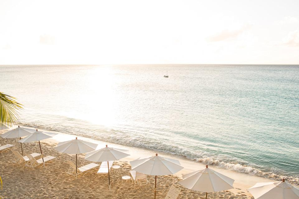 "Your first stop on this British Overseas Territory (just north of the dual-nation island of St. Maarten/St. Martin) should be Shoal Bay, Anguilla's most famous beach. The blindingly white shore offers soft sand and non-touristy restaurants, plus an offshore reef for snorkelers and divers. For the ultimate luxurious hideaway, book a suite at the newly renovated <a href=""https://www.cntraveler.com/hotels/anguilla/the-valley/cap-juluca--anguilla?mbid=synd_yahoo_rss"" rel=""nofollow noopener"" target=""_blank"" data-ylk=""slk:Belmond Cap Juluca"" class=""link rapid-noclick-resp"">Belmond Cap Juluca</a>—resort perks aside, the enclave offers unbridled views of Maundays Bay's vanilla sands and blue waters."