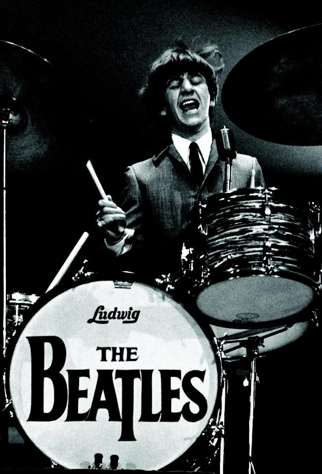 This Feb. 11, 1964 image provided by the David Anthony Fine Art gallery in Taos, N.M., shows a photograph of Ringo Starr taken by photographer Mike Mitchell during the Beatles first live U.S. concert at the Washington Coliseum. Mitchell's portraits of the Beatles are the centerpiece of a monthlong photography exhibition at the gallery. This marks the first time the images have been shown since their unveiling in 2011 at a Christie's auction in New York City. (AP Photo/David Anthony Fine Art, Mike Mitchell)