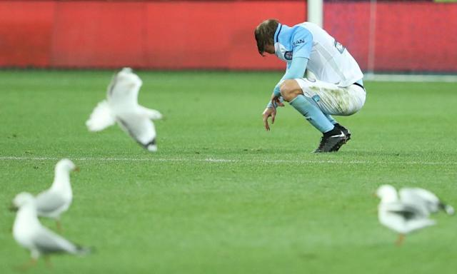 "<span class=""element-image__caption"">From Melbourne City's FFA Cup final triumph it has been a slow but inexorable decline, culminating in Sunday's loss to Perth Glory.</span> <span class=""element-image__credit"">Photograph: Robert Cianflone/Getty Images</span>"
