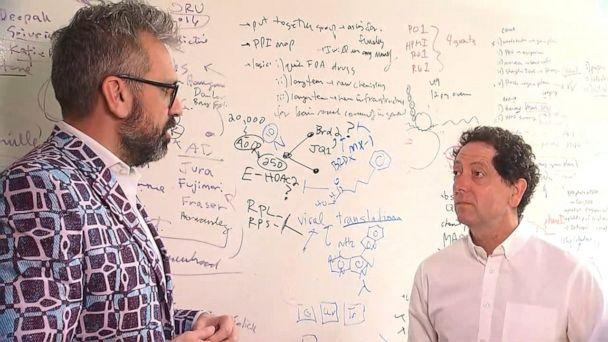 PHOTO: Kevan Shokat, chair of the Department of Cellular and Molecular at the University of California, San Francisco, and Nevan Krogan, director of the Quantitative Biosciences Institute, are working to find a treatment for novel coronavirus. (ABC News)