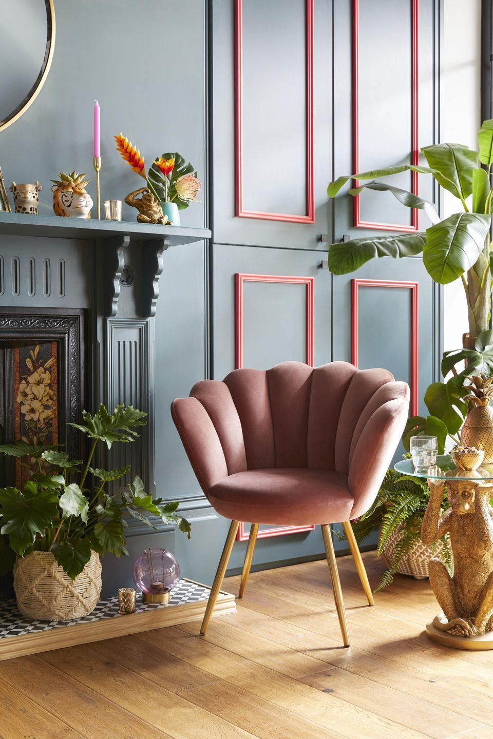 """<p>Create a striking look in your <a href=""""https://www.housebeautiful.com/uk/decorate/living-room/a35111240/living-room-lighting-ideas/"""" rel=""""nofollow noopener"""" target=""""_blank"""" data-ylk=""""slk:living room"""" class=""""link rapid-noclick-resp"""">living room</a>, dining room or study with Dunelm's swoon-worthy velvet chair (£149). Snuggly and sophisticated, it will bring an elegant feel to your space. </p><p><a class=""""link rapid-noclick-resp"""" href=""""https://go.redirectingat.com?id=127X1599956&url=https%3A%2F%2Fwww.dunelm.com%2Fproduct%2Fvivian-velvet-cocktail-chair-rose-1000157999&sref=https%3A%2F%2Fwww.housebeautiful.com%2Fuk%2Flifestyle%2Fshopping%2Fg35333392%2Fdunelm-spring-summer-homeware%2F"""" rel=""""nofollow noopener"""" target=""""_blank"""" data-ylk=""""slk:BUY NOW, £149"""">BUY NOW, £149</a></p><p><strong>READ MORE</strong>: <a href=""""https://www.housebeautiful.com/uk/decorate/g32597929/best-velvet-armchair/"""" rel=""""nofollow noopener"""" target=""""_blank"""" data-ylk=""""slk:17 velvet armchairs for a chic and contemporary look"""" class=""""link rapid-noclick-resp"""">17 velvet armchairs for a chic and contemporary look</a></p>"""