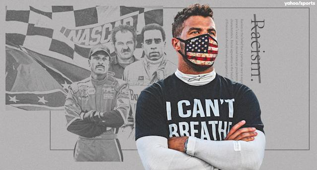 Wendell Scott, Willy T. Ribbs and Bill Lester helped open the door for Bubba Wallace in NASCAR. (Amber Matsumoto/Yahoo Sports)